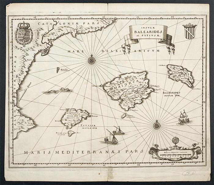 Merian-Karte der Balearen aus dem 17. Jahrhundert